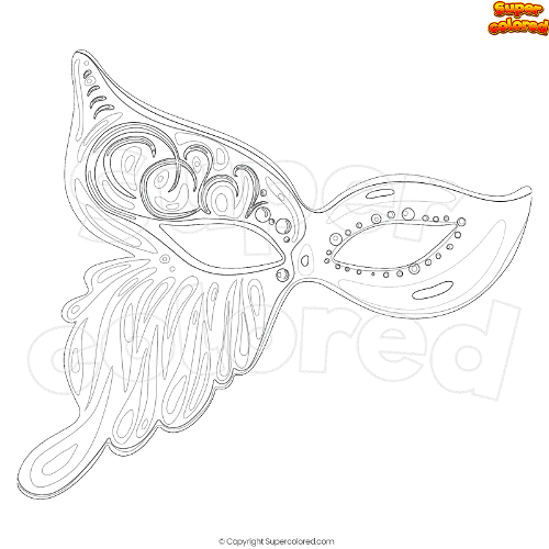 Coloring Page Butterfly Mask Supercolored Com